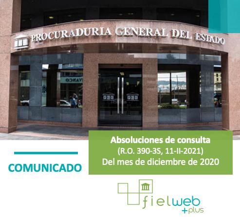 Extractos de absoluciones de consulta al PGE diciembre 2020