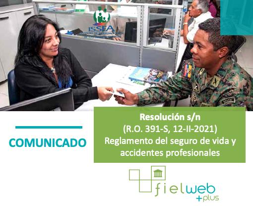 Reglamento del seguro de vida y accidentes profesionales del ISSFA