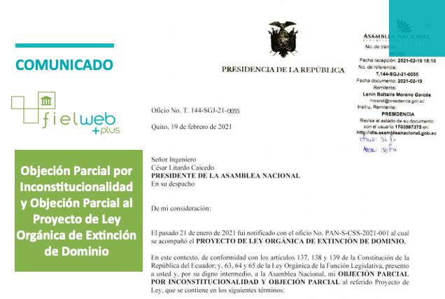 Objeciones al Proyecto de Ley Orgánica de Extinción de Dominio