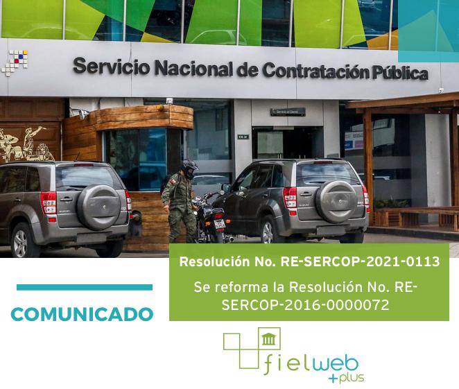 Resolución No. RE-SERCOP-2021-0113