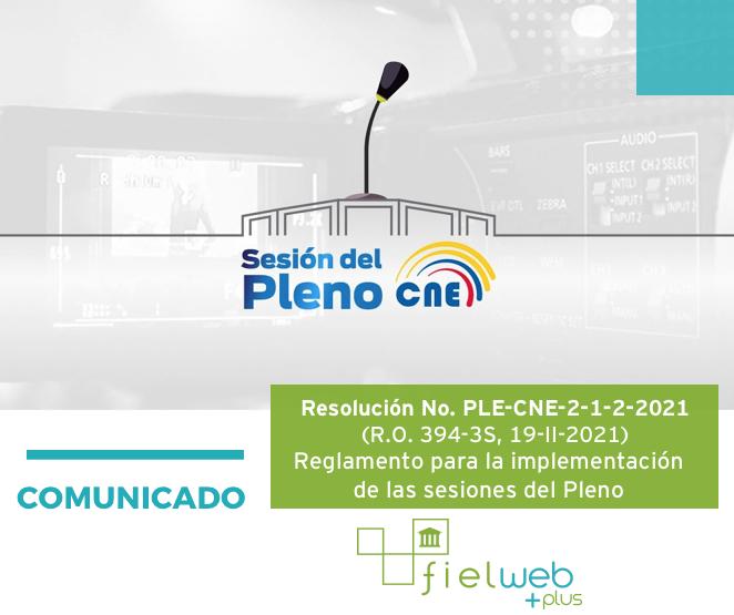 Resolución No. PLE-CNE-2-1-2-2021