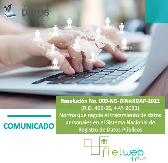 Resolución No. 009-NG-DINARDAP-2021