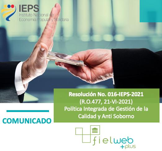 Resolución No. 016-IEPS-2021