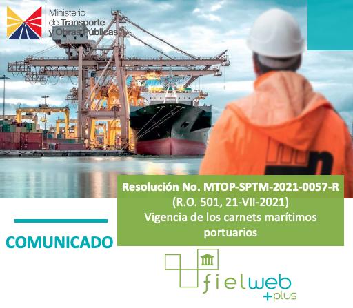 Resolución No. MTOP-SPTM-2021-0057-R